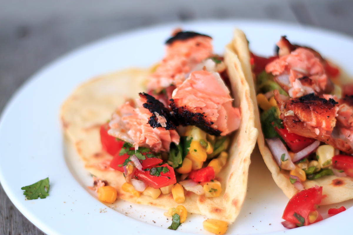 Salmon Avocado And Corn Tortillas
