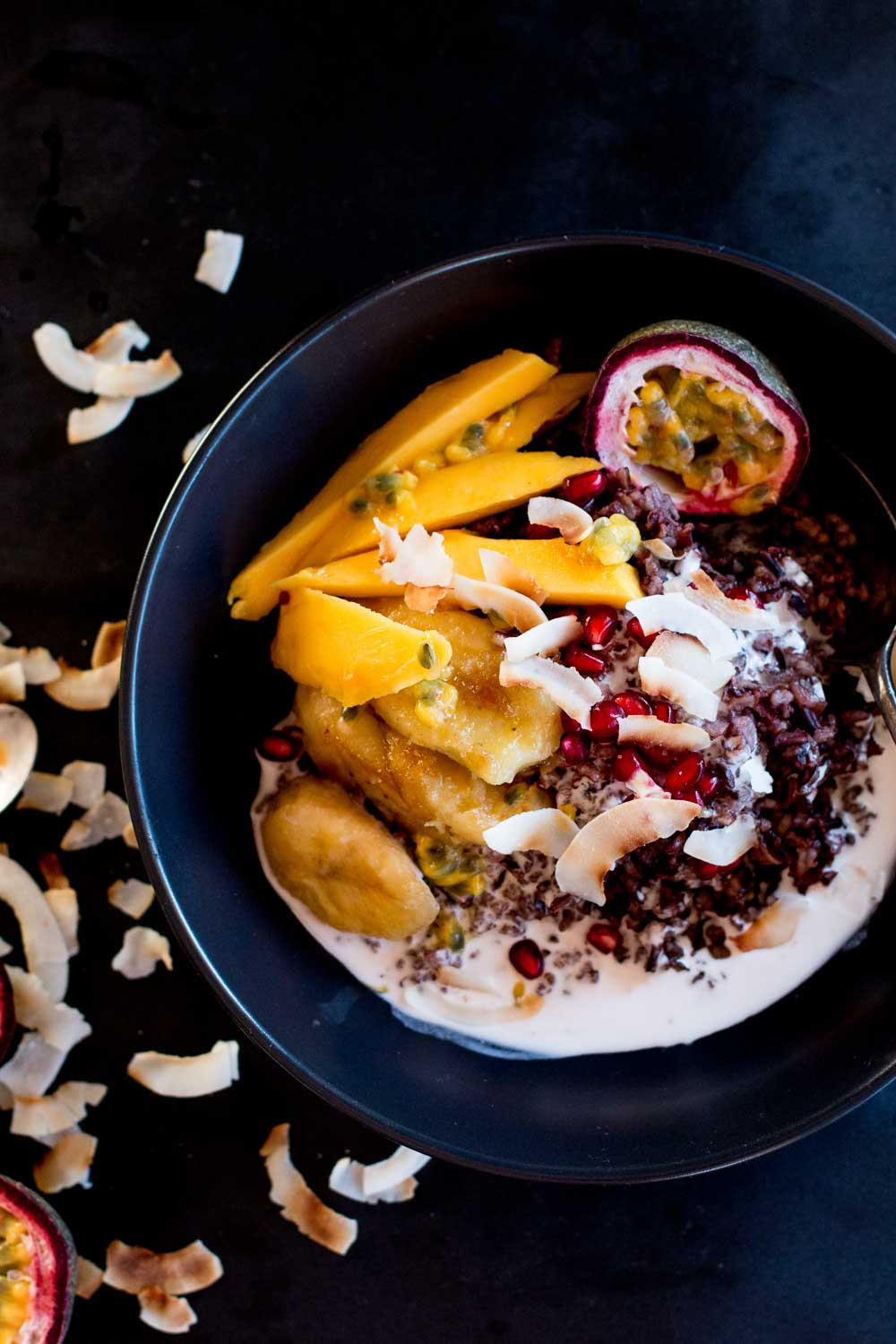 Mango & Coconut Black Sticky Rice Pudding + Cambodia | The ...